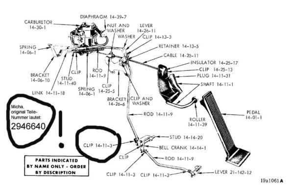 Kick-down linkage clip
